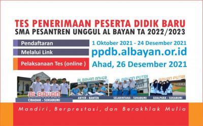 Pendaftaran PPDB 2022/2023 SMA Al Bayan Sudah Dibuka